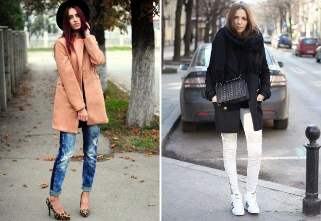 с чем носить классическое короткое пальто