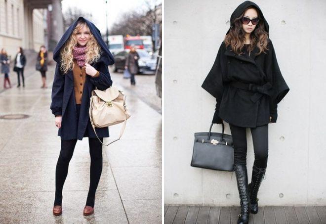 с чем носить короткое пальто с капюшоном