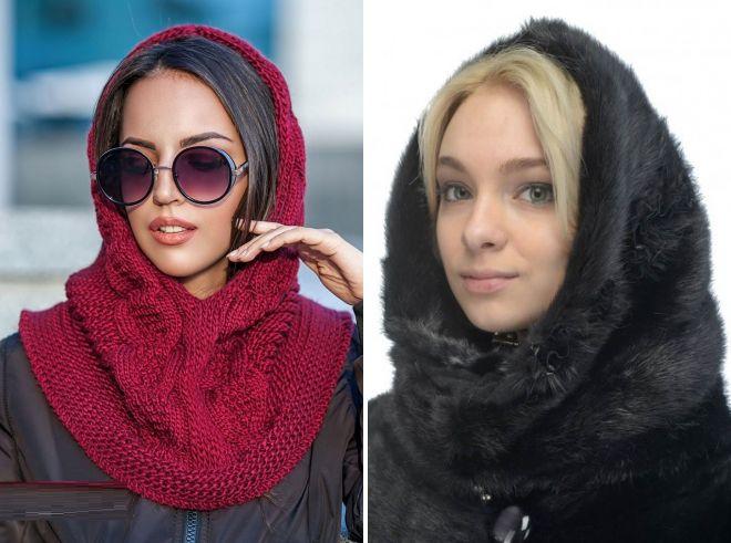 шарф капор