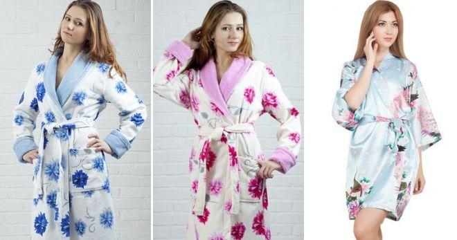 Модные домашние халаты цветочные