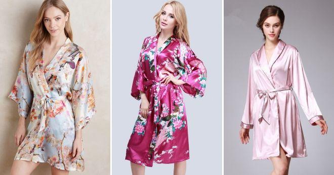 Домашний халат-кимоно