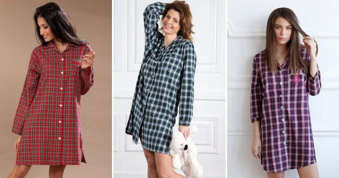 Домашнее платье-халат рубашка