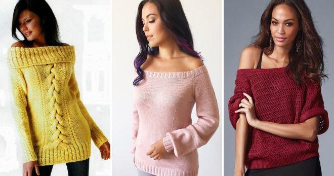 Raglan džemper na ramenu