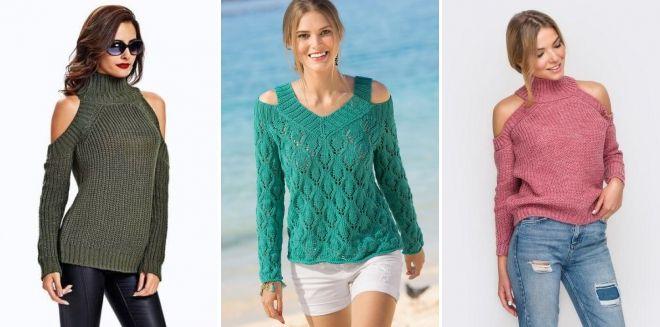 Raglan džemper sa otvorenim izrezima ramena
