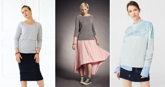 Raglan džemper sa suknjom