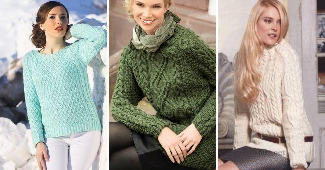 Raglan džemper sa Arani pletenim