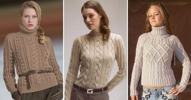 Raglan džemper sa Aranas za žene