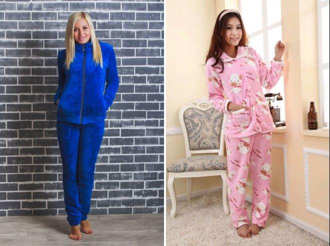 4dfdae9c46b8 Модная женская теплая пижама – махровые, из микрофибры, флиса ...