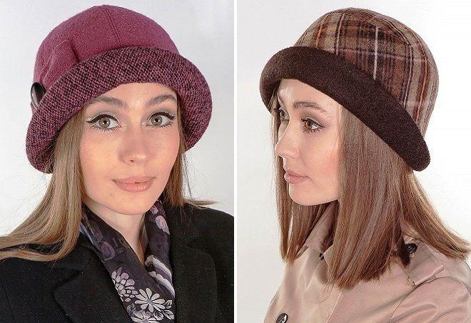 женские шляпки с маленькими полями