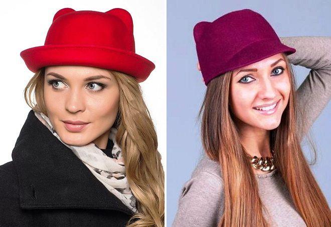 стильные шляпки для девушек
