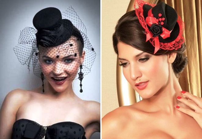 женская шляпка под вечерний наряд