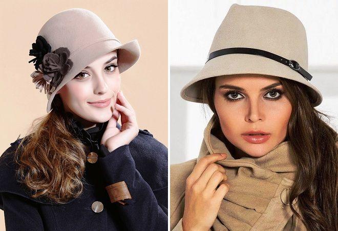 фетровые женские шляпки