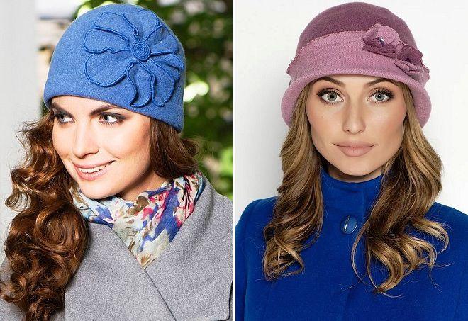 женские шляпки из фетра