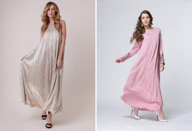 длинное платье а силуэта