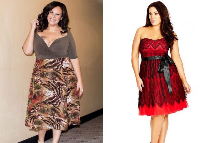 летние платья а силуэта для полных