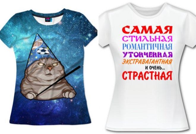 прикольные женские футболки