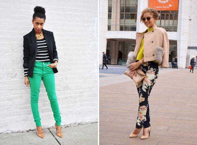 какой верх подобрать к цветным брюкам