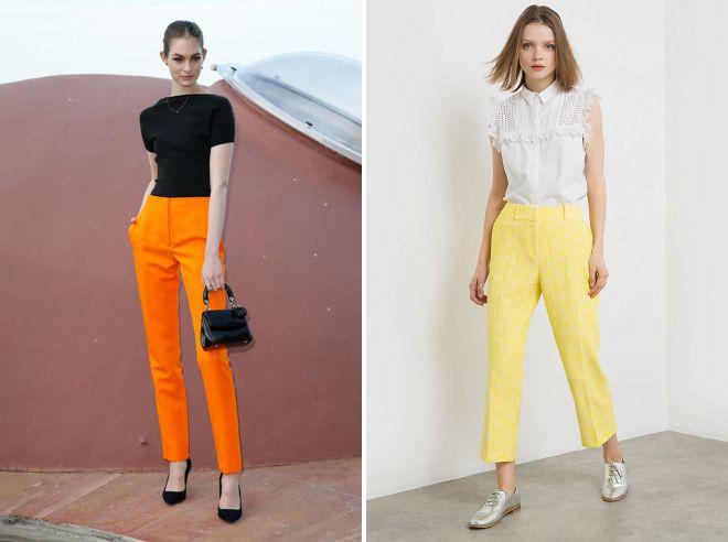 цветные брюки 2018