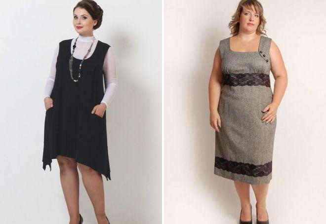 деловые сарафаны для полных женщин для офиса