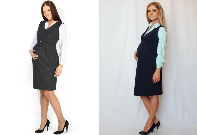 офисный сарафан для беременных