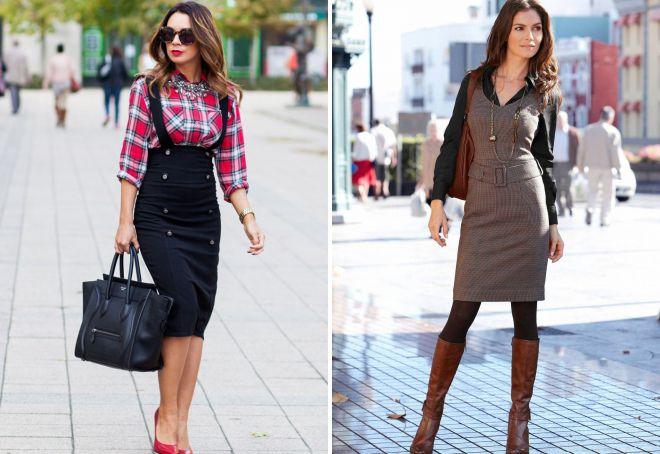 фасоны деловых платьев и сарафанов