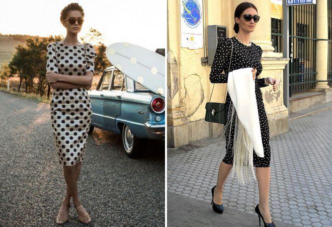 платье в горошек тренд 2018