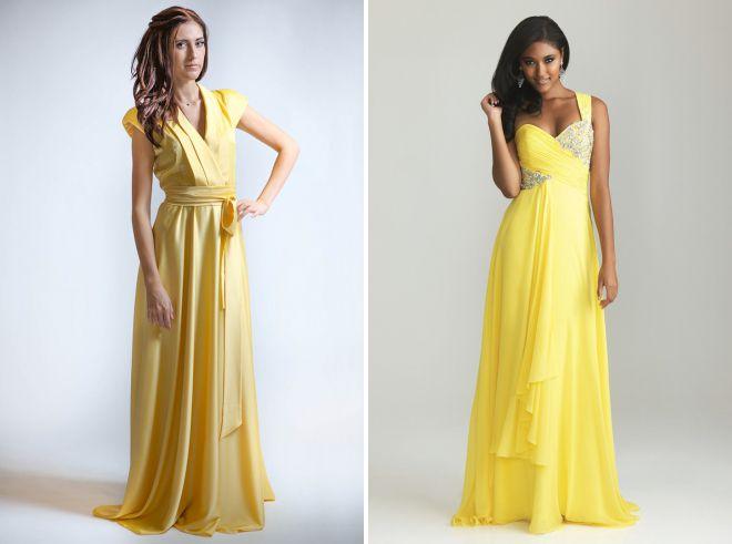 модные желтые сарафаны
