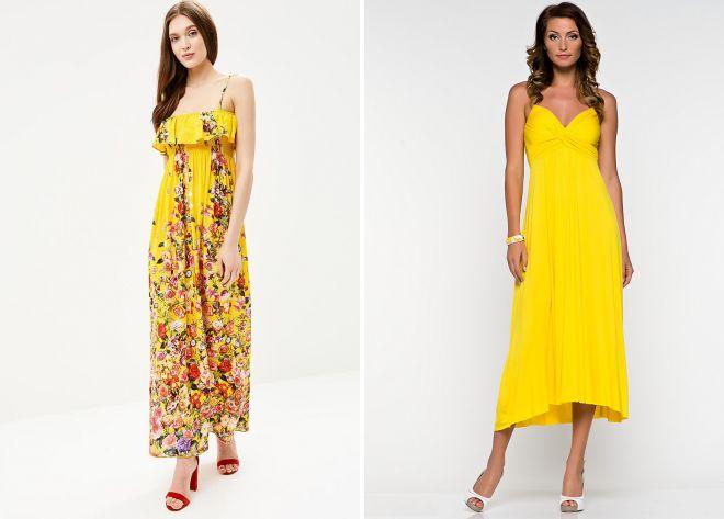 желтые летние сарафаны