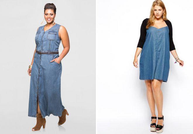 женский джинсовый сарафан для полных