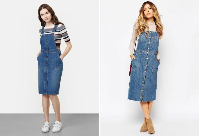 ba0e777c9e04 Стильный женский джинсовый сарафан – длинный, короткий, миди, с ...
