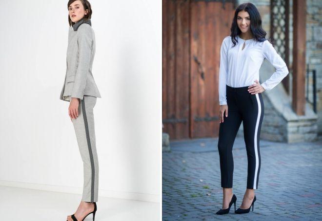 7b485e5db288 Τι να φορέσετε παντελόνι με λωρίδες - 36 μοντέρνες φωτογραφίες για ...