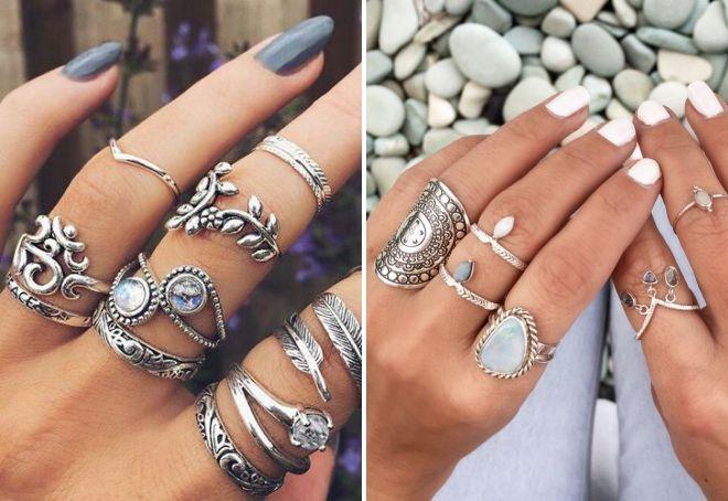 кольца в стиле бохо