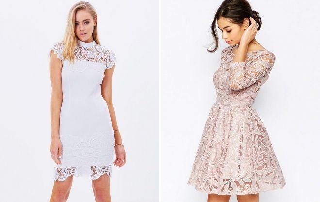 коктейльные короткие платья на выпускной 2018
