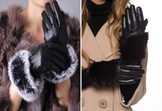 women's winter gloves with fur
