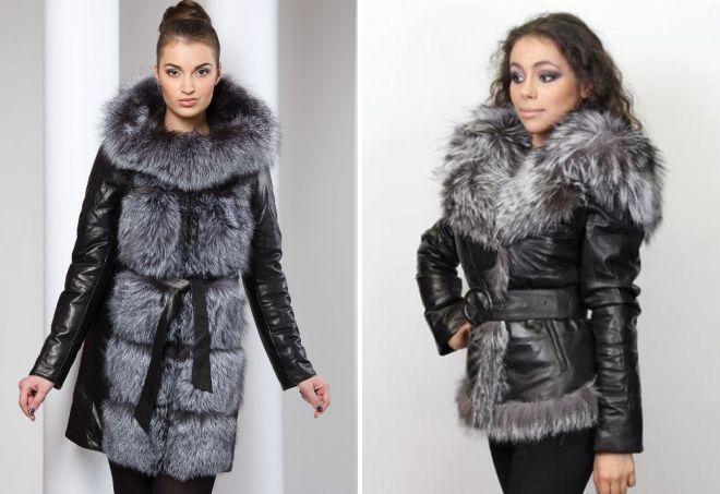 модные кожаные куртки с мехом