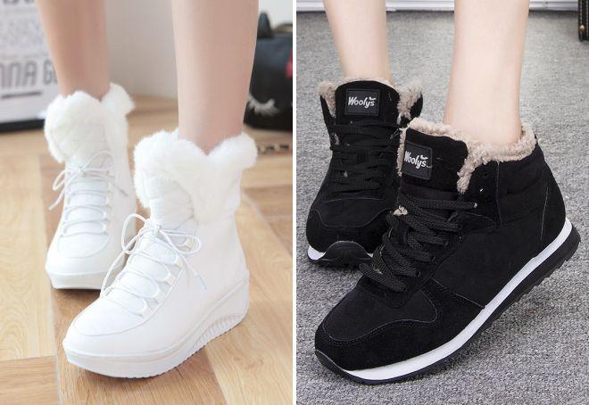 женские зимние спортивные кроссовки
