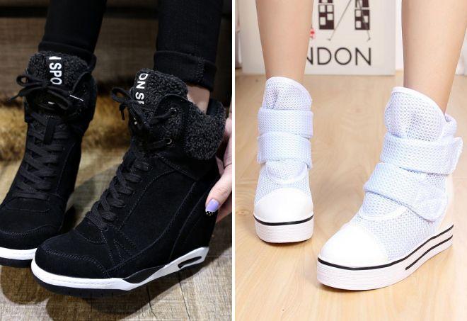 высокие зимние кроссовки