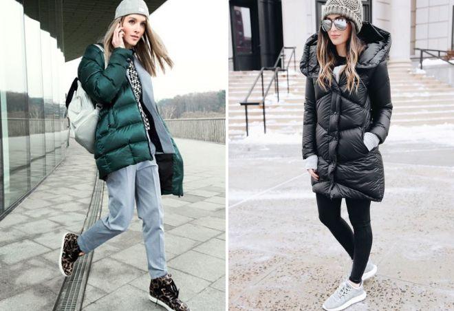 зимние кроссовки с пуховиком