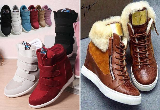 зимние кроссовки для девушек