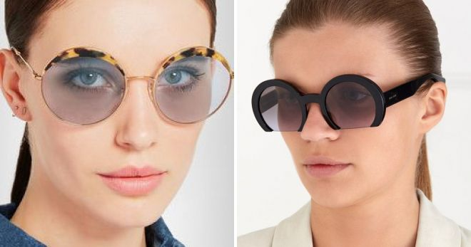 round glasses miu miu