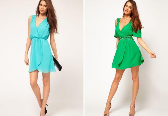 короткие шифоновые платья