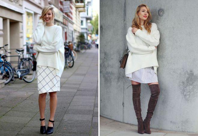 белый свитер оверсайз