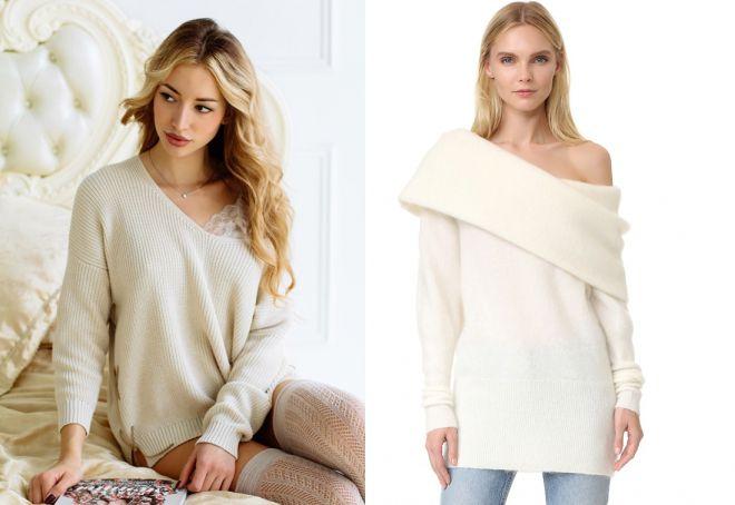 модные свитера белого цвета