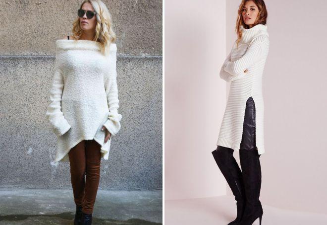 белый кашемировый свитер