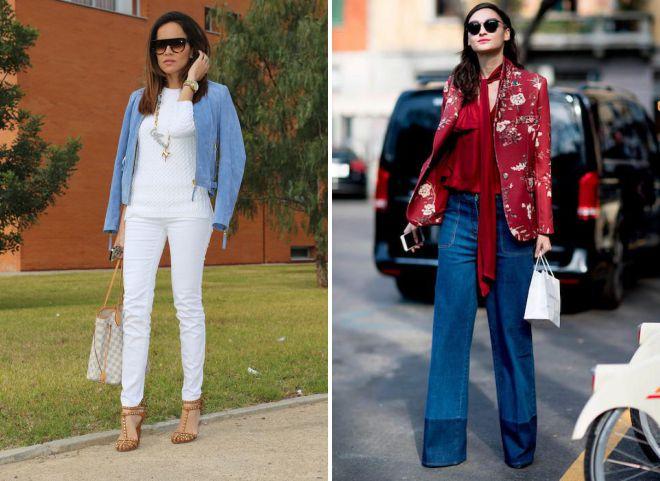 образы с кожаной курткой и джинсами