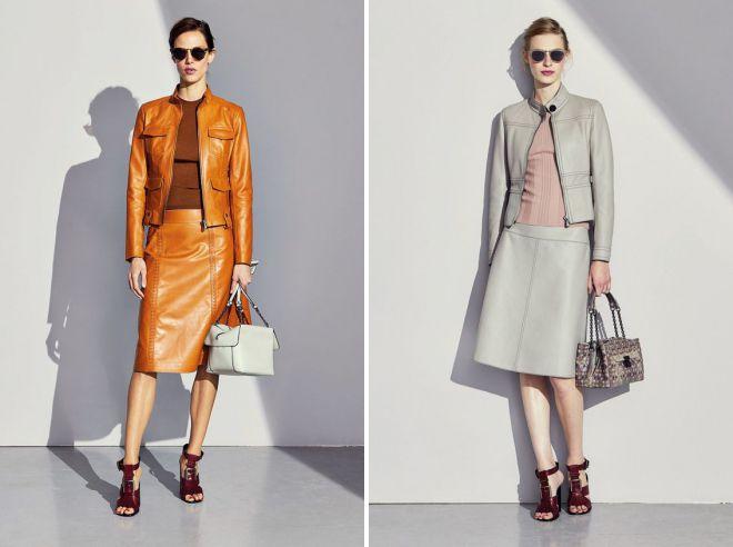 модные винтажные образы с кожаной курткой