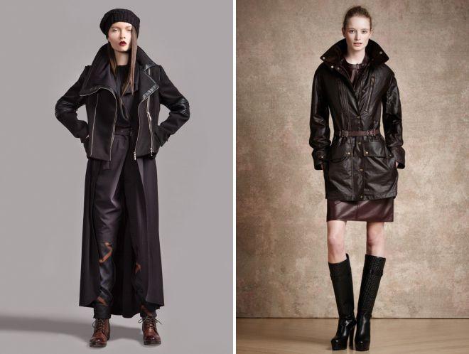 с чем носить женскую кожаную куртку косуху