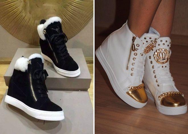 женская обувь сникерсы 2018