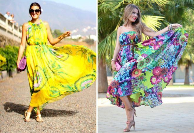 летние длинные повседневные платья