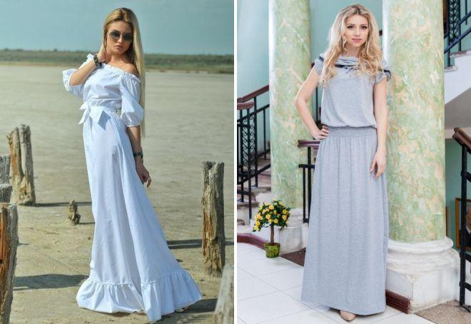 летнее длинное платье на каждый день